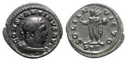 Ancient Coins - Constantine I (307/310-337). Æ Half Follis - Treveri - R/ Sol