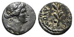 Ancient Coins - Seleucis and Pieria, Antioch. Pseudo-autonomous issue, time of Nero (54-68). Æ - Apollo / Branch
