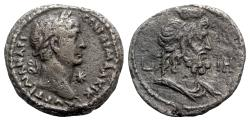 Ancient Coins - Trajan (98-117). Egypt, Alexandria. BI Tetradrachm - year 18 - R/ Bust of Serapis