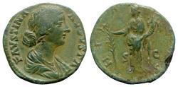 Ancient Coins - Faustina Junior (Augusta, 147-175). Æ Sestertius - Rome - R/ Hilaritas