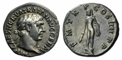 Ancient Coins - TRAJAN. 98-117 AD. AR Denarius. Struck 101-102 AD. R / HERCULES