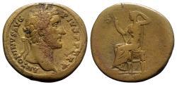 Ancient Coins - Antoninus Pius (138-161). Æ Sestertius - Rome - R/ Securitas