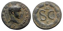 Ancient Coins - Diadumenian (Caesar, 217-218). Seleucis and Pieria, Antioch. Æ As