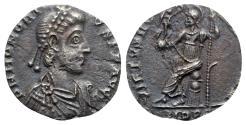 Ancient Coins - Honorius (395-423). AR Siliqua - Mediolanum