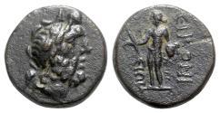 Ancient Coins - Lycaonia, Eikonion, c. 1st century BC. Æ - Zeus / Perseus