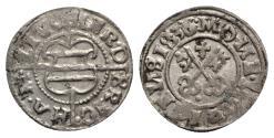 World Coins - Livonia, Herman von Bruggeney (1535-1547). BI Schilling 1536, Riga. Arms. R/ Crossed keys