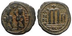 Ancient Coins - Phocas (602-610). Æ 40 Nummi - Theoupolis (Antioch), year 2