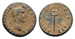 Ancient Coins - Trajan (98-117). Seleucis and Pieria. Æ Semis. Rome for circulation in Syria, 98-9.  R/ Winged caduceus