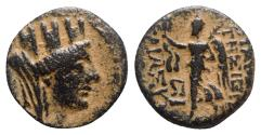 Ancient Coins - Seleukis and Pieria, Apameia on the Axios, 1st century BC. Æ - Tyche / Nike