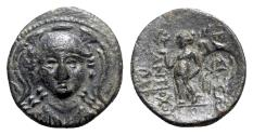 Ancient Coins - Seleukid Kings, Antiochos I (281-261 BC). Æ - R/ Nike