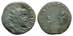 Ancient Coins - Postumus (260-269). Æ Dupondius - Treveri - R/ Gallia with emperor - RARE