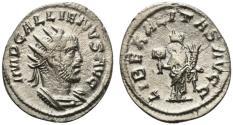 Ancient Coins - Gallienus (253-268). Antoninianus. Antioch, 257-260. R/ Liberalitas