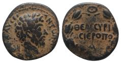 Ancient Coins - Marcus Aurelius (161-180). Cyrrhestica, Hierapolis. Æ 23mm. RARE