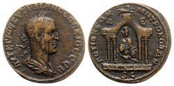 Ancient Coins - Trajan Decius (249-251). Seleucis and Pieria, Antioch. Æ 8 Assaria - R/ Tyche seated