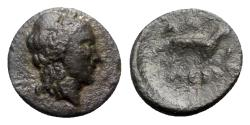 Ancient Coins - Thrace, Alopekonnesos, 3rd-2nd century BC. Æ - Apollo / Fox - RARE