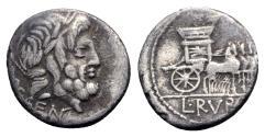 Ancient Coins - L. Rubrius Dossenus, Rome, 87 BC. AR Denarius