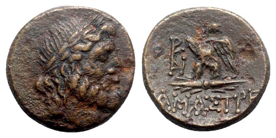 Ancient Coins - Paphlagonia, Amastris, c. 100-85 BC. Æ - Zeus / Eagle