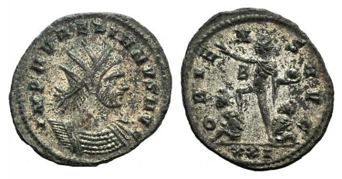 Ancient Coins - Aurelian. AD 270-275. Antoninianus. Cyzicus mint. / Sol