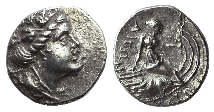Ancient Coins - Euboia, Histiaia, 3rd-2nd centuries BC. AR Tetrobol