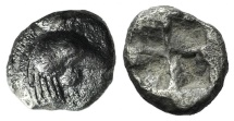 Ancient Coins - Troas, Dardanos, c. 5th century BC. AR Hemiobol. Cock's head