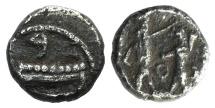 Ancient Coins - Samaria, 4th Century BC. AR Obol.