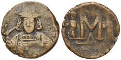 Ancient Coins - Constantine IV Pogonatus (668-685). Æ 40 Nummi. Constantinople, 669-674.  VERY RARE
