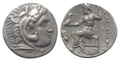"Ancient Coins - Kings of Macedon, Alexander III ""the Great"" (336-323 BC). AR Drachm - Abydos"