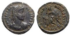 Ancient Coins - Constantius II (337-361). Æ - Antioch - R/ Soldier spearing