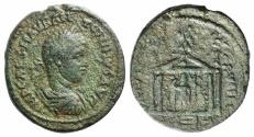 Ancient Coins - PHOENICIA, Berytus. Elagabalus. AD 218-222. Æ 28mm R/ Astarte in temple