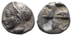 Ancient Coins - Ionia, Phokaia, c. 510-494 BC. AR Diobol - Female head left