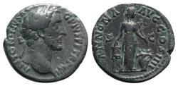 Ancient Coins - Antoninus Pius (138-161). Æ As - R/ Annona