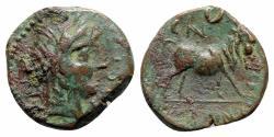 Ancient Coins - Spain, Castulo, mid 2nd century BC. Æ