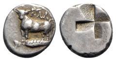 Ancient Coins - Bithynia, Kalchedon, c. 340-320 BC. AR Hemidrachm