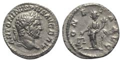 Ancient Coins - Caracalla (198-217). AR Denarius - Rome - R/ Moneta