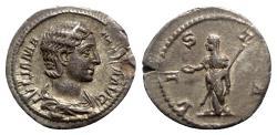 Ancient Coins - Julia Mamaea (Augusta, 222-235). AR Denarius - Rome - R/ Vesta