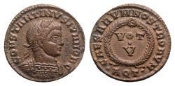 Ancient Coins - Constantine II (Caesar, 316-337). Æ Follis - Aquileia
