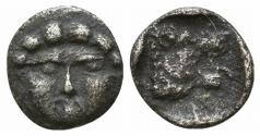 Ancient Coins - PISIDIA, Selge. Circa 250-190 BC. AR Hemiobol Facing Gorgon / Lion's head