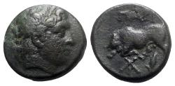 Ancient Coins - Mysia, Parion, c. 2nd-1st century BC. Æ - Apollo / Bull