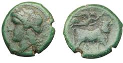 Ancient Coins - ITALY. Central and Southern Campania, Neapolis. AE 20 mm. c. 275-250 BC.