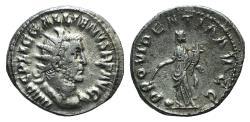 Ancient Coins - Gallienus (253-268). AR Antoninianus. Rome, 255-6. R/ PROVIDENTIA