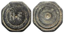 Ancient Coins - Byzantine Æ Octagonal Coin Weight - 5 Nomismata - RARE