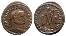 Ancient Coins - Diocletian (284-305). Æ Follis - Antioch - R/ Genius