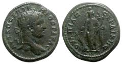Ancient Coins - Geta (209-211). Thrace, Serdica. Æ - R/ Tyche