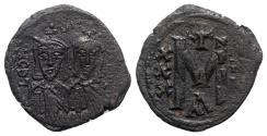 Ancient Coins - Leo III and Constantine V (717-741). Æ 40 Nummi