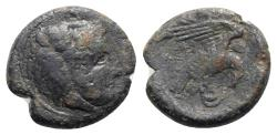 Ancient Coins - ITALY. Bruttium, Kroton, c. 350-300 BC. Æ 20mm. R/ Eagle, alighting on snake.