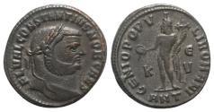Ancient Coins - Constantius I (Caesar, 293-305). Æ Follis. Antioch, 300-1. R/ Genius