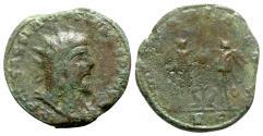 Ancient Coins - Postumus (260-269). Æ Æ Double Sestertius - Treveri - R/ Victories