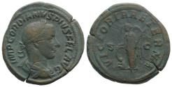 Ancient Coins - Gordian III (238-244). Æ Sestertius. Rome, AD 243. R/ VICTORY