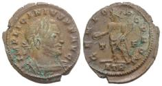 Ancient Coins - Licinius I (308-324). Æ Follis. Treveri, AD 316. R/ Genius