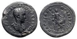 Ancient Coins - Diadumenian (Caesar, 217-218). Moesia Inferior, Marcianopolis. Æ Triassarion